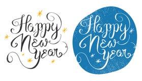 Happy New Year 2016 handmade greeting card design. Vector illust Royalty Free Stock Photo