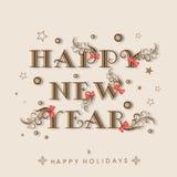 Happy New Year and Happy Holidays celebration concept. Stock Photo
