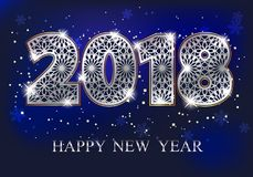 2018 Happy New Year Royalty Free Stock Photography