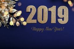 Happy New Year 2019 stock photos