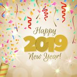 Happy New Year 2019 stock illustration