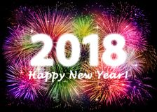 2018 Happy New Year. Greeting card Stock Photos
