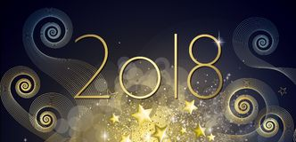 Happy New year 2018. Greeting card Stock Images