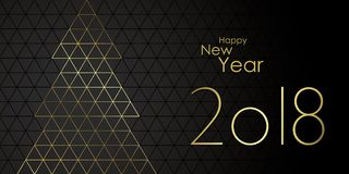 Happy New year 2018. Greeting card vector Stock Image