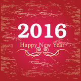 Happy new year 2016.Happy new year greeting with number 2016 . Vector illustration Royalty Free Stock Image
