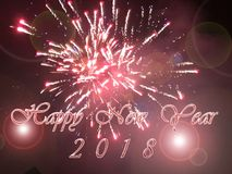 Happy New Year 2018. Holidays decoration  as colored background Stock Photography