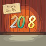 2018 Happy New Year royalty free stock photos