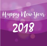 Happy New Year 2018. On purple Background vector illustration