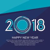 2018 Happy New Year stock images