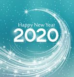Happy New Year 2020. Vector illustration Christmas background Royalty Free Stock Photo