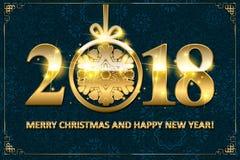 Happy New Year 2018. Stock Photos