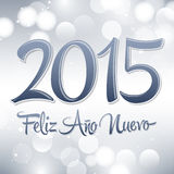 Happy New Year 2015 - happy new year 2015. Vector spanish text lettering - fantasy background Royalty Free Stock Photography