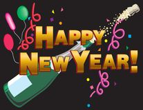 Happy New Year Heading Stock Images