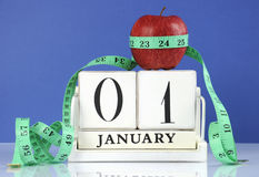 Happy New Year Healthy Slimming Weight Loss Or Good Health Resolution Royalty Free Stock Image