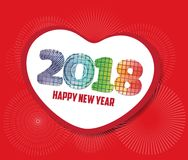 Happy new year 2017 with heart greeting Stock Photos