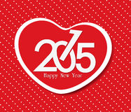 Happy new year with heart greeting. Happy new year background and greeting card design Vector Illustration
