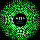Happy New Year 2015 - Hexagon Disco lights Stock Photography