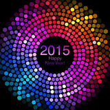 Happy New Year 2015 - Hexagon Disco lights Royalty Free Stock Photos