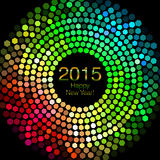 Happy New Year 2015 - Hexagon Disco lights Royalty Free Stock Photography