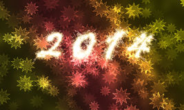 Happy New Year for 2014. Holiday Stock Photos