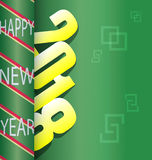 Happy new year 2018. Holiday background Royalty Free Stock Images