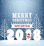 Happy new year 2018 Royalty Free Stock Photo