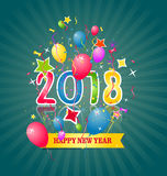 Happy new year 2018. Holiday background Stock Image