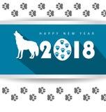 Happy new year 2018. Holiday background Stock Photo