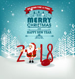 Happy new year 2018. Holiday background Stock Images