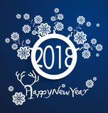 Happy new year 2018. Holiday background Royalty Free Stock Photography