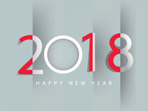 Happy new year 2018. Holiday background Stock Photography
