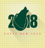 Happy new year 2018. Holiday background Stock Image