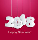 Happy new year 2018. Holiday background Royalty Free Stock Image