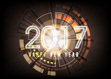 Happy new year 2017 holiday background. And fireworks, flowers vector illustration