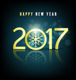 Happy new year 2017 holiday background Royalty Free Stock Photo