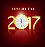 Happy new year 2017 holiday background Royalty Free Stock Photography