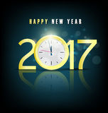 Happy new year 2017 holiday background Royalty Free Stock Image