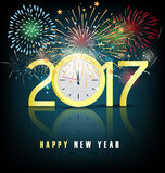 Happy new year 2017 holiday background Stock Photos