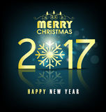 Happy new year 2017 holiday background Stock Photography