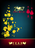 Happy new year 2017 holiday background Royalty Free Stock Images