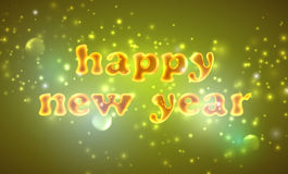 Happy new year. holiday background with golden text Royalty Free Stock Photo