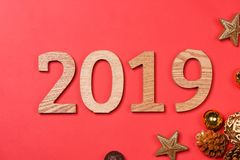 2019 Happy New Year. Holiday background.  royalty free stock photos