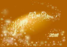 Happy New year holiday background with 2016 inscription.Blurred Stock Images
