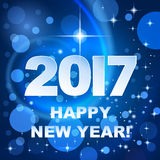 2017 Happy New Year! Holiday background. Winter blue holiday background with greetings Happy New Year 2017 vector illustration