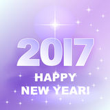 2017 Happy New Year! Holiday background. Winter pink holiday background with greetings Happy New Year 2017 Royalty Free Stock Photography