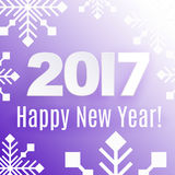 2017 Happy New Year! Holiday background. Winter pink holiday background with greetings Happy New Year 2017 stock illustration