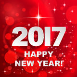 2017 Happy New Year! Holiday background. Winter red holiday background with greetings Happy New Year 2017 Royalty Free Stock Image