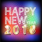 2018 happy new year holiday calendar background. Royalty Free Stock Photography