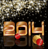Happy new 2014 year holiday card Stock Images