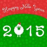 Happy New Year. Holiday, Celebration, Sheep Royalty Free Stock Photography